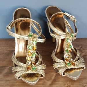Baby phat gold sandals
